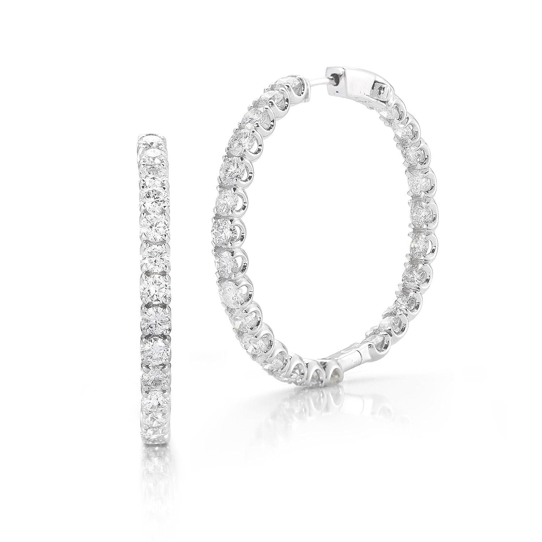 Funkelndes Feuer Edles 14 Karat (585) Weißgold Eternity Damen – Diamant Armband Brillant-Schliff 1.50 Karat F-I1 – 8mm jetzt kaufen