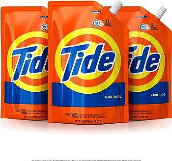 3-Pack Tide HE Turbo Clean Liquid Laundry Detergent Pouches