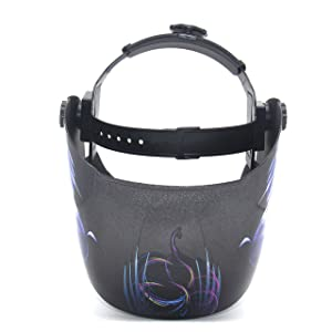 ATF Solar Powered Welding Helmet Auto Darkening Hood with Fixed Shade, Professional Welder Mask for ARC TIG MIG, 1pcs Replacement Lens Included. (Sexy Girl) (Color: Sexy Girl)