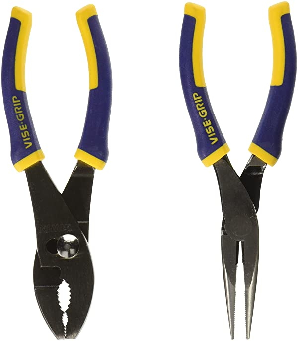 IRWIN Tools VISE-GRIP Pliers Set, 2-Piece Traditional (2078702) (Color: Blue, Tamaño: 6)