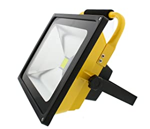 ABN Rechargeable LED Work Light - 50W Cordless Shop Work Light with Charger Adapter, 4500LM Portable Flood Light (Tamaño: 50 Watt)