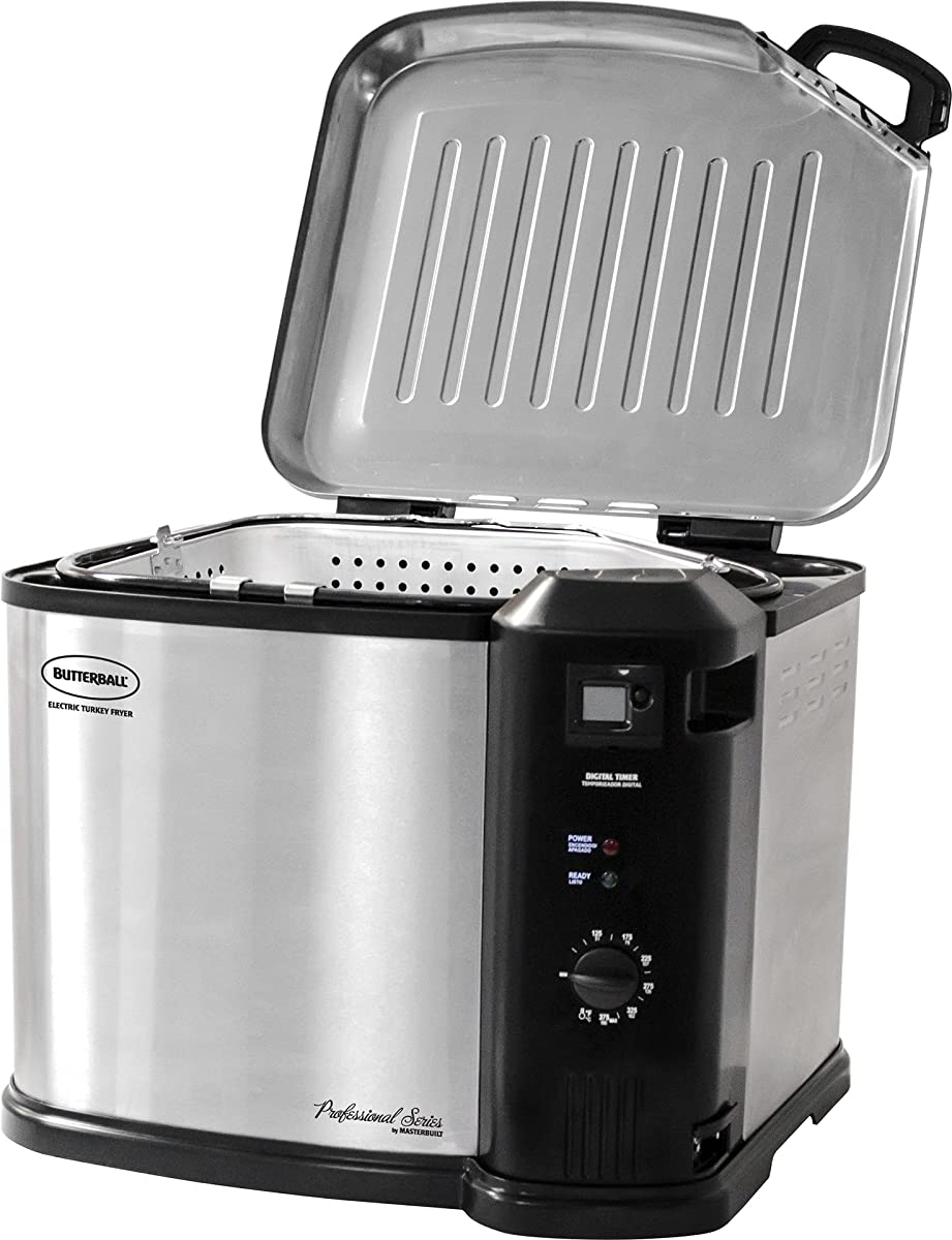 Masterbuilt 23011114 Butterball Indoor Electric Turkey Fryer, XL