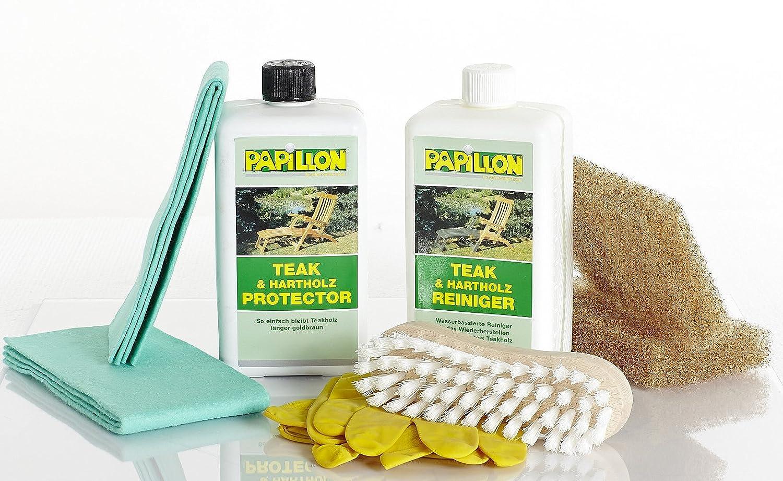 Papillon Teak Protector + Cleaner Holzpflegeset 8tlg.