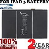 Brand New Replacement Battery for iPad 3 A1416, A1430 & iPad 4 A1458, A1459, A1460, A1389, 616-0586, 616-0591, 616-0592, 616-0593, 616-0604 (Batería de repuesto)