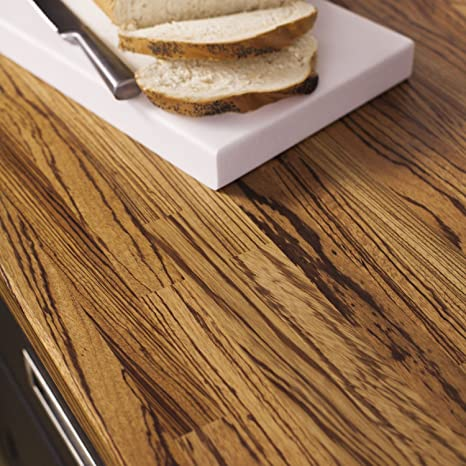 Solid Zebrano Timber Block Worktops 3000mm x 720mm x 40mm