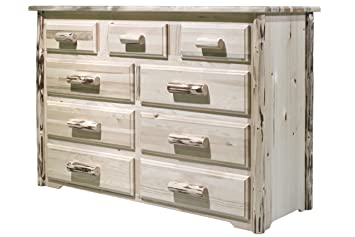 Montana Woodworks Collection 9-Drawer Dresser, Ready to Finish