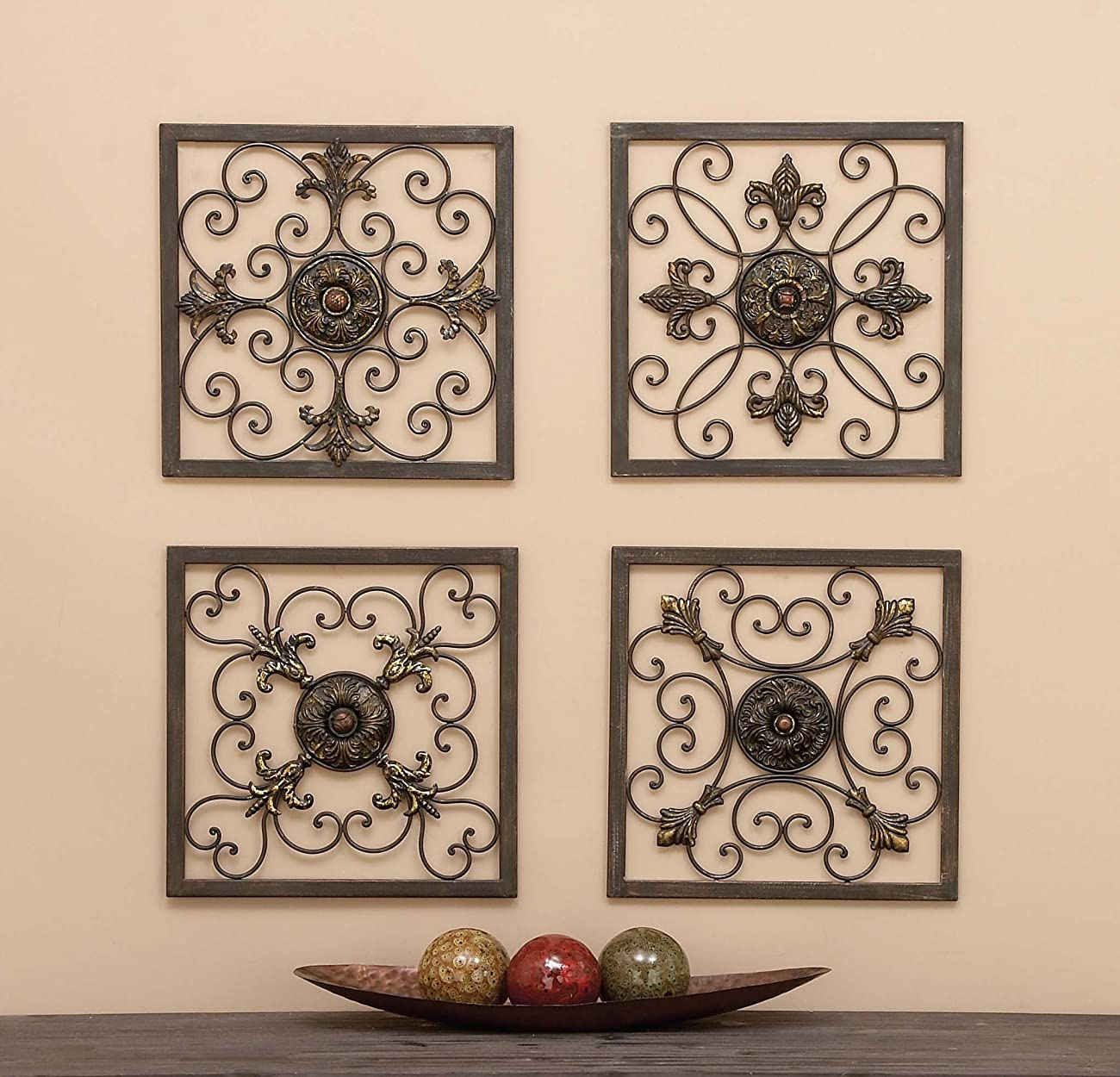 Aspire Metal Wall Plaque Set, Antique Bronze 1