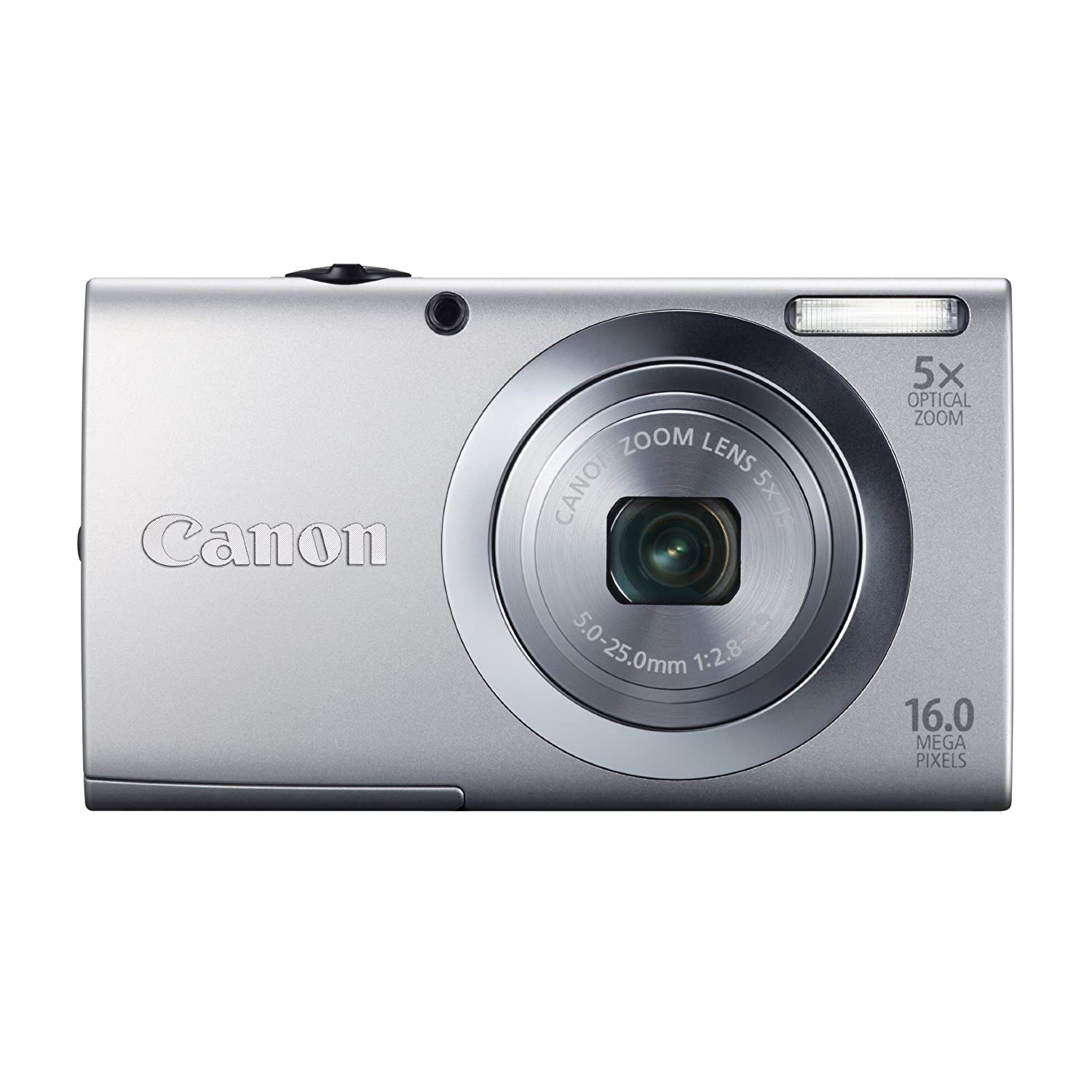 Canon PowerShot A2400 IS 16.0 MP Digital Camera with 5x Optical Image Stabilized Zoom 28mm Wide-Angle Lens with 720p Full HD Video Recording and 2.7-Inch Touch Panel LCD