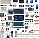 UCTRONICS Mega 2560 Complete Ultimate Starter Kit for Arduino w/TUTORIAL in TF Card, MEGA 2560 Development Board, LCD1602, Servo, Stepper Motor, Joystick, 21 keys Remote Controller, PIR Motion Sensor