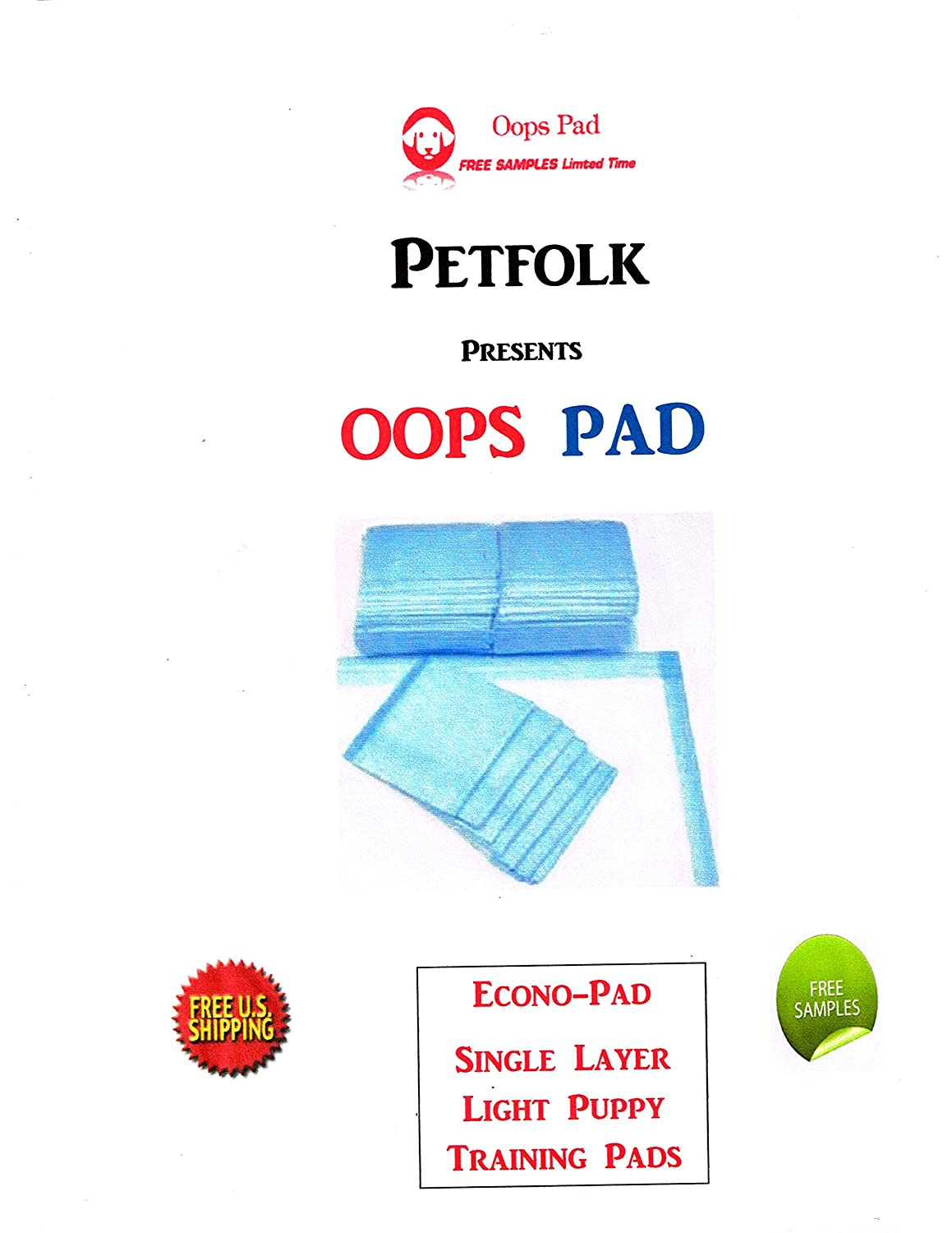 300ct 17x24 3-Layer Lightweight Economy Opps Pads for Dogs up to 10lbs