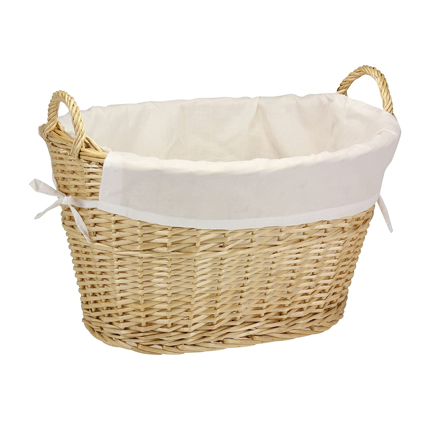 Laundry Basket With Handles Hamper In Wicker Or Plastic
