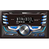 JENSEN MPR529 Double DIN Car Stereo Receiver with 7 Character LCD Built-in Bluetooth/MP3/USB (Tamaño: Double DIN Bluetooth)