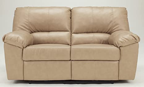 Contemporary Natural DuraBlend Reclining Loveseat