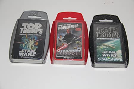 Top Trumps - Star Wars 3 pack - Phantom Menace, Star Wars 4-6 and Starships