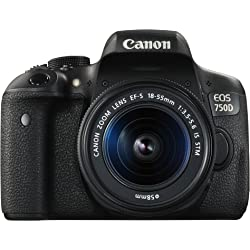 Canon EOS 750D HD Digital SLR Camera with 18-55mm Lens with 18x Optical Zoom (Black)
