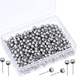 500 Pack Map Push Pins Map Tacks Small Size (Silver, 1/5 Inch) (Color: Silver, Tamaño: 1/ 5 Inch)
