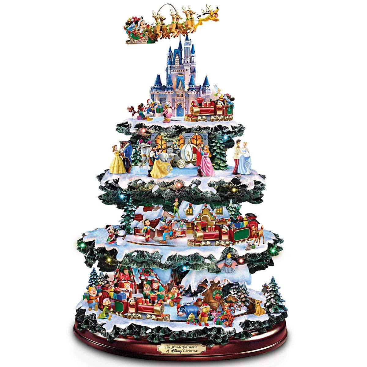 Disney Tabletop Christmas Tree: The Wonderful World Of Disney by The Bradford Exchange