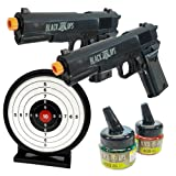 Black Ops 1911 Airsoft Pistols - Tactical Combat Kit - 2 Pack Spring Action Airsoft Pistols with Ammo and Gel Target