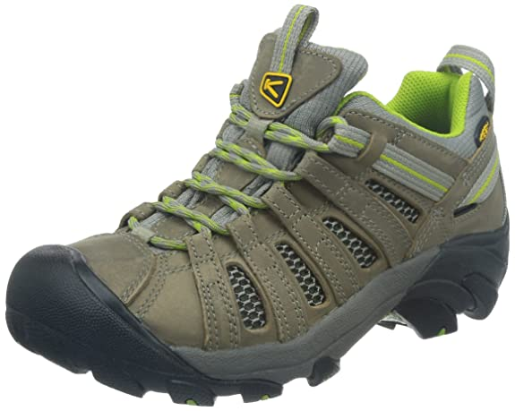 Keen Women's Voyageur Hiking Shoe,Neutral Gray/Lime Green,5 M US