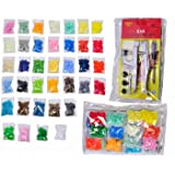 370 KAM snaps 37-color with KAM Snap Press Plier Hand Setter Tool and 4 Dies Sizes (T3, T5, T8A and T8B) for KAM Plastic/Resin Snaps use to make Cloth Diapers/Bibs/Mama Pads/PUL with Clear Zip Pouch