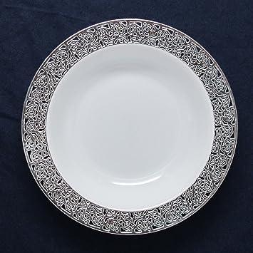 decorline vaisselle de luxe usage unique blanc avec bord en dentelle dentelle. Black Bedroom Furniture Sets. Home Design Ideas