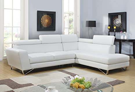 Global Furniture Sectional Sofa, White
