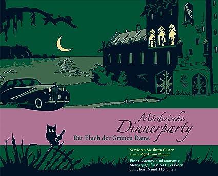 """Blaubart - BLA00004 - Jeu de société """"Mörderische Dinnerparty: Der Fluch der Grunen Dame""""  - Langue: allemande"""
