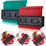 2 Pack Plastic Contour Gauge Profile Gauge Duplicator Copy Irregular Shapes Tracing Template Measuring Tool for Fit and Easy Cutting (5 Inch Green 5 Inch Red) (Tamaño: 5 Inch Green 5 Inch Red)