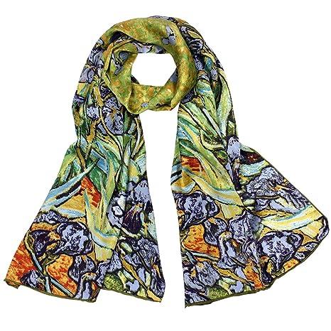 梵高名作《鸢尾花(Irises)》纯丝豪华长围巾