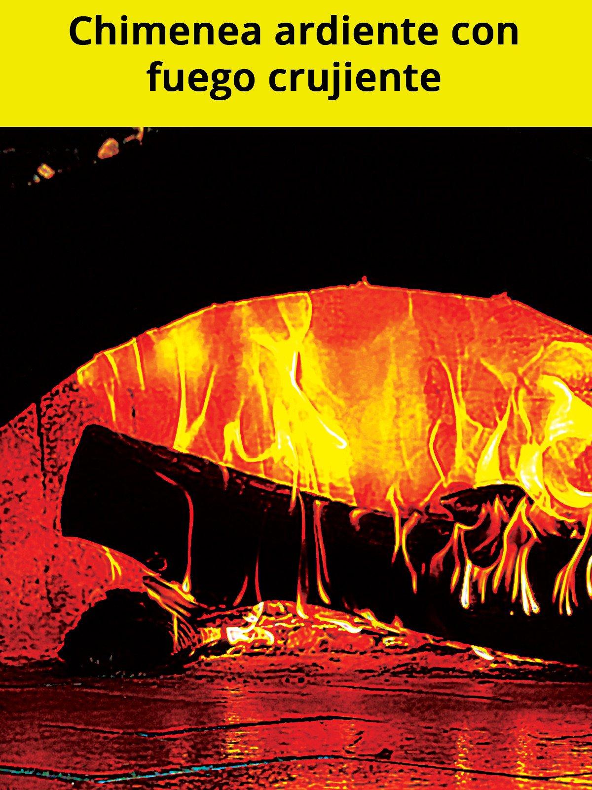 Chimenea ardiente con fuego crujiente