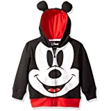 Disney Toddler Boys' Mickey Mouse Costume Hoodie, Black, 2T (Color: Black, Tamaño: 2T)