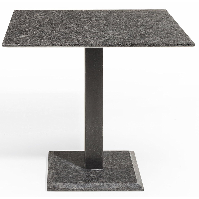 Studio 20 Edam Gartentisch 90 x 90 x 75 cm Outdoortisch Granittisch Stahl Tischplatte Pearl grey satiniert günstig bestellen