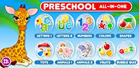 Preschool All-In-One Learning - Bubble School Adventure A to Z: Basic Skills Games for Kids - Learn to Read and Count with Animals (220 Interactive Flash Cards) - Educational Toy for Baby, Toddler & Kindergarten Explorers by Abby Monkey? (Lite)