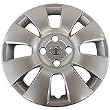 Genuine Toyota 42602-52280 Wheel Cap Sub-Assembly (Color: Silver, Tamaño: 15