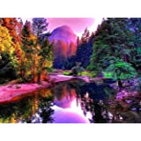 Boashna 5D Diamond Painting Kits for Adults Full Drill,12x16 Inches… (Color: Mountain, Tamaño: 12*16 inches)
