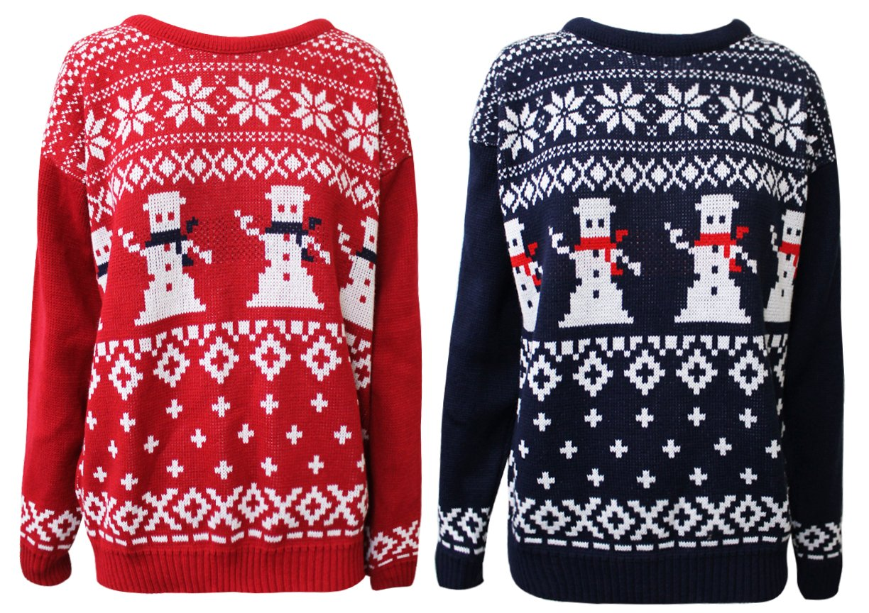 Snowman Retro Knitted Christmas Jumper