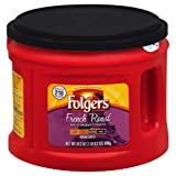 Folgers French Roast Ground Coffee, Medium-Dark Roast, 24.2 Ounce (Tamaño: 24.2 Ounce)