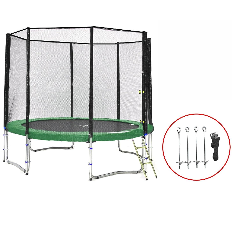 SB-305-GA Gartentrampolin 305cm incl. Netz, Leiter, Anker , 180kg Traglast günstig kaufen
