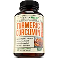 Vimerson Health Turmeric Curcumin with Bioperine Joint Pain Relief Supplemens