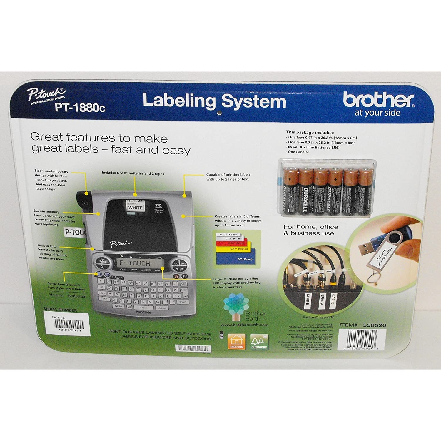 brother p touch 1880 label maker instructions
