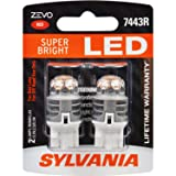 SYLVANIA ZEVO 7443 T20 Red LED Bulb, (Contains 2 Bulbs) (Color: White)
