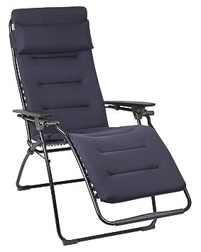 Lafuma Fauteuil Relax, Position réglable, Structure en acier HLE, Air Comfort, Futura, Couleur : Acier, LFM30516135
