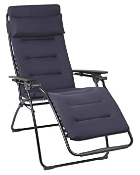 Lafuma Tumbona, Sillón Relax, plegable y regulable, Estructura en acero ALE, Air Comfort, Futura, Color: Azul oscuro LFM3051_6135