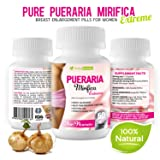 Pueraria Mirifica Breast Enhancement Supplement – 100% Natural Herbal Vaginal Health Capsules for Menopause Relief, Increase Bust & Cups Size, Improve Hair, Skin & Nails Collagen 60 Veggie Pills