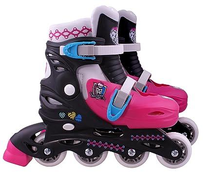 Monster High - MO130303 - Vélo et Véhicule pour Enfant - Patins en Ligne Ajustable - Monster High - Taille 34-37