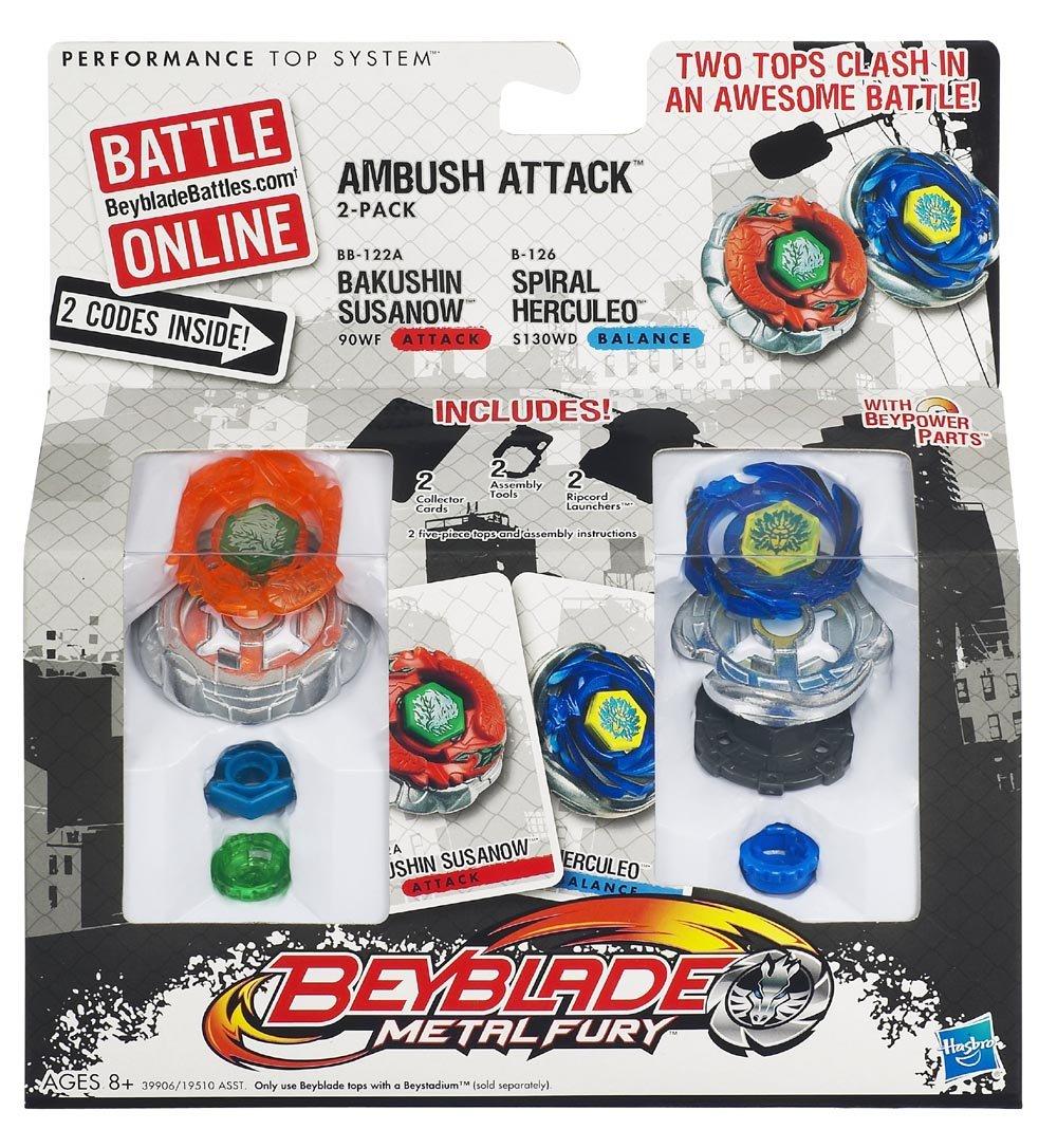 Beyblade – 39906 – Metal Fury – Ambush Attack Duell-Set – Bakushin Susanow vs. Spiral Herculeo günstig kaufen