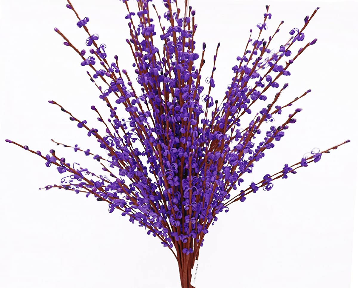 "Misswarm 10 Pieces 29.5"" Long of Jasmine Artificial flower Artificial flowers Fake Flower for Wedding Home Office Party Hotel Restaurant patio or Yard Decoration(Purple)"