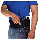 L-Anan Women & Men Belly Band Holster that WILL KEEP YOU SAFE ,Unique Neoprene Elastic Handgun holster for Concealed Carry Pistols Revolvers   Magazine Pouch Carrying System Black (Color: White,gray,pink,blue,purple, Tamaño: 117 cm)