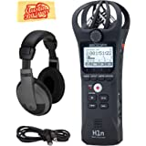 Zoom H1n Handy Recorder Bundle with Headphones, MicroSD Card, Aux Cable, AAA Batteries, and Austin Bazaar Polishing Cloth (Color: Bundle w/ Headphones, Tamaño: H1n)