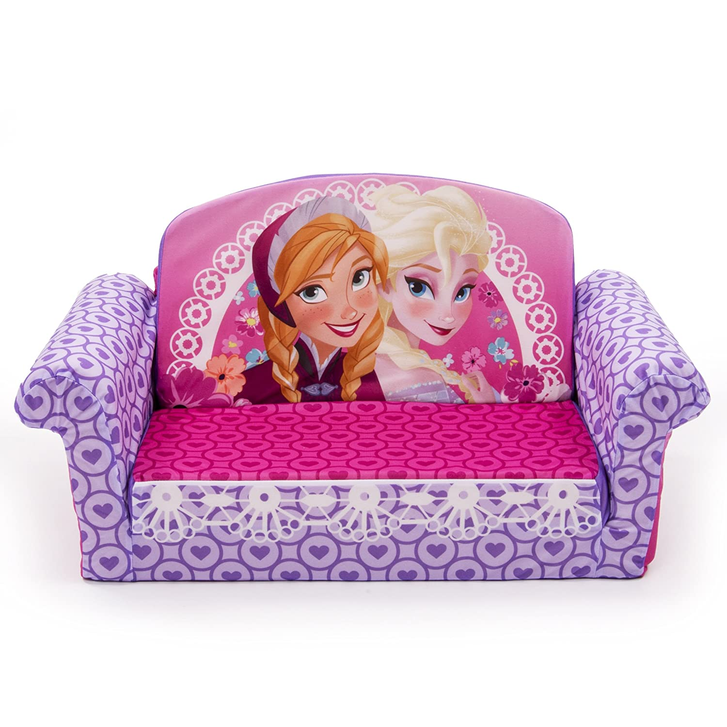 Pink and Purple Kid Sized Sofa for Girls' Bedroom or Playroom